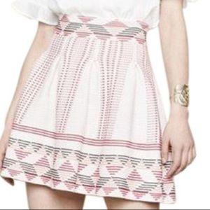 Maje Jordy Graphic-print Stretch-knit Skirt